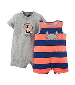 Carter's® Baby Boys' 3-24 Month 2 Piece Crabby Rompers