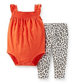 Carter's® Baby Girls' 3-24 Month 2-Piece Bodysuit And Pants Set