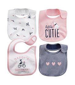 Carter's® Baby Girls' 4-Pack Bibs