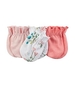 Carter's® Baby Girls' 3-Pack Mittens