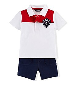 Chaps® Baby Boys' 3-24 Month Badged Shirt And Short Set