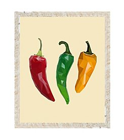 Chili Peppers Framed Art