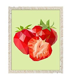 Strawberries Framed Art