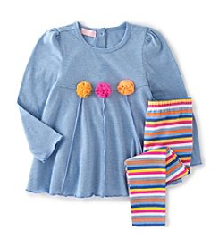 Kids Headquarters® Girls' 4-6X Rosette Tunic With Leggings Set