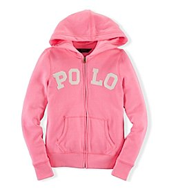 Ralph Lauren Childrenswear Girls' 7-16 Solid Knit Hoodie