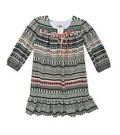 Rare Editions® Girls' 7-16 Long Sleeve Print Chiffon Dress