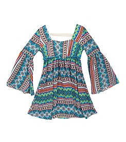 Rare Editions® Girls' 7-16 Bell Sleeve Chiffon Dress