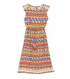Rare Editions® Girls' 7-16 Geo Print Maxi Dress