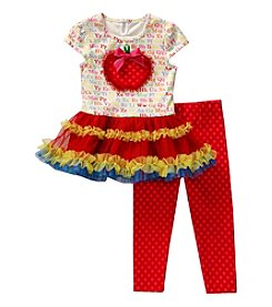 Sweet Heart Rose® Girls' Mini Dress With Leggings Set