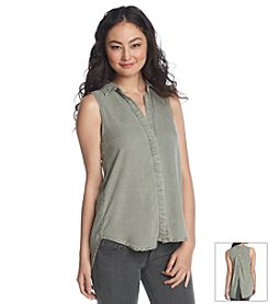 Cloth & Stone® Sleeveless Button Back Shirt