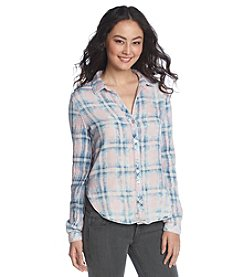 Cloth & Stone® Double Faced Long Sleeve Plaid Shirt
