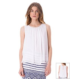 Sam Edelman® Sheer Keyhole Blouse