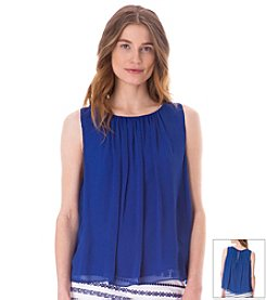 Sam Edelman™ Sheer Keyhole Blouse