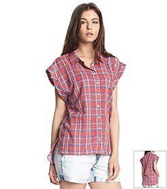 KIIND OF Oxford Plaid Top