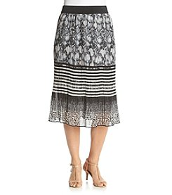 Studio West Multi Print Pleated Skirt