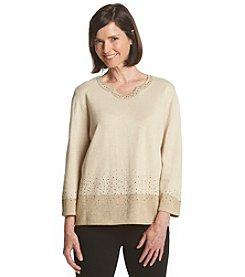 Alfred Dunner® Villa D'este Embellished Keyhole Sweater