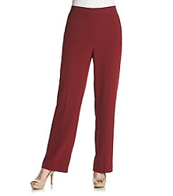 Alfred Dunner® Villa D'este Solid Pull On Regular Pants