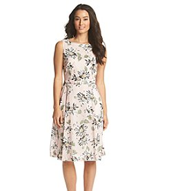 Anne Klein® Floral Fit And Flare Dress