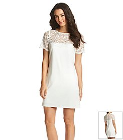 Jessica Simpson Crochet Fitted Dress