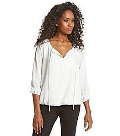 Chaus Banded Peasant Blouse