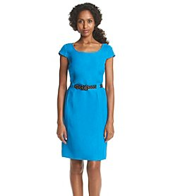 Tahari by Arthur S. Levine® Solid Polka Dot Belt Dress