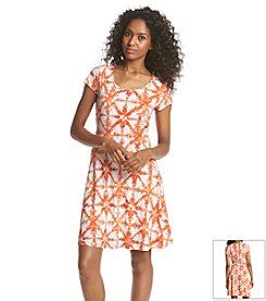 MICHAEL Michael Kors® Tile Print Flare Dress