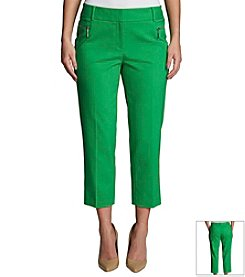 Chaus Zipper Pocket Crop Pants