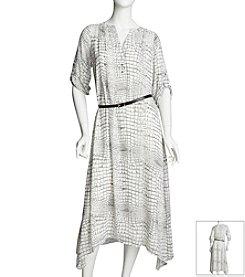 Chaus Croc Print Dress