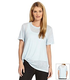 Karen Kane® Short Sleeve Pick Up Tee