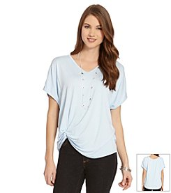 Karen Kane® V-Neck Pick Up Top