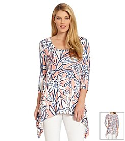 Karen Kane® Watercolor Handkerchief Top