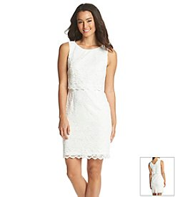 Ivanka Trump® Lace Popover Dress