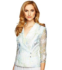 Alex Evenings® Printed Button Blouse