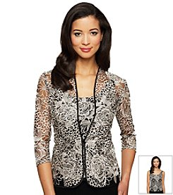 Alex Evenings® Floral Jacket and Tank Top Set