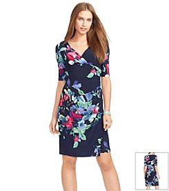 Lauren Ralph Lauren® Floral Faux-Wrap Dress