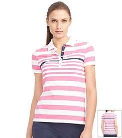Lauren Active® Striped Cotton Jersey Top