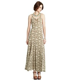 Lauren Jeans Co.® Lace-Up Cotton Maxi Dress