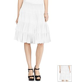 Lauren Ralph Lauren® Tiered Smocked-Waist Skirt