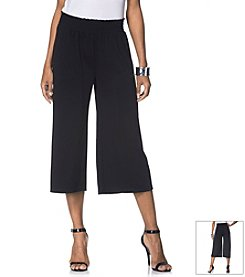 Rafaella® Solid Loose Fit Cropped Pants