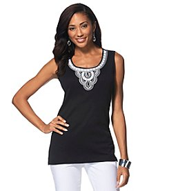 Rafaella® Embellished Tank Top