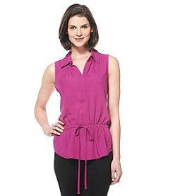 Rafaella® Sleeveless Drawstring Top