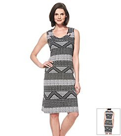 Rafaella® Printed Sleeveless Dress