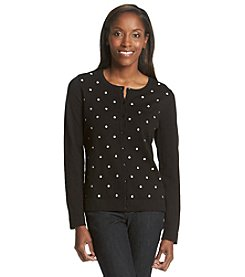 Studio Works® Embroidered Dot Cardigan