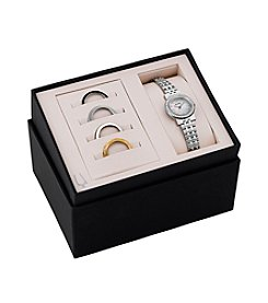 Bulova® Women's Interchangable Bezel Watch Box Set
