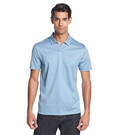 Calvin Klein Men's Short Sleeve End On End Stripe Polo