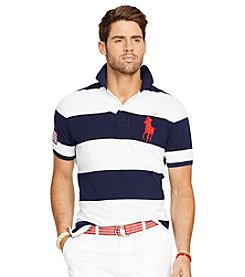 Polo Ralph Lauren® Men's Short Sleeve Bold Stripe Mesh Polo