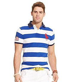 Polo Ralph Lauren® Men's Short Sleeve Wide Stripe Mesh Polo
