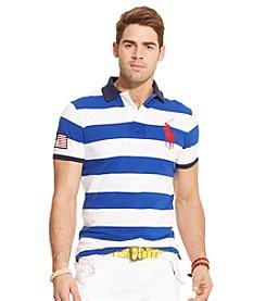Polo Ralph Lauren® Men's Short Sleeve Wide Stripe Mesh Polo