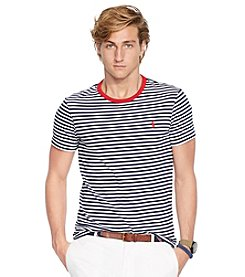 Polo Ralph Lauren Men's Short Sleeve Striped Crewneck Model Tee