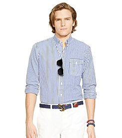 Polo Ralph Lauren® Men's Long Sleeve Mixed Media Button Down Shirt